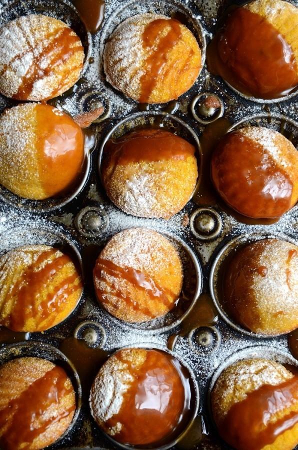 Pumpkin madeleines with caramel drizzle| Bibbyskitchen recipes