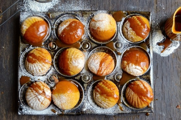Pumpkin madeleines with caramel drizzle| Bibbyskitchen recipes