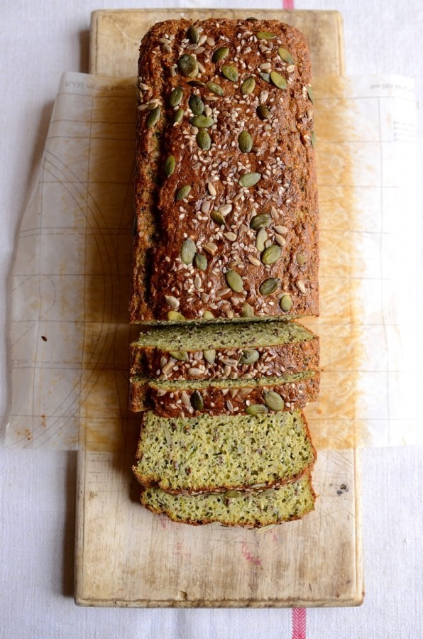 Gluten free zucchini and basil pesto seed bread|Banting recipes