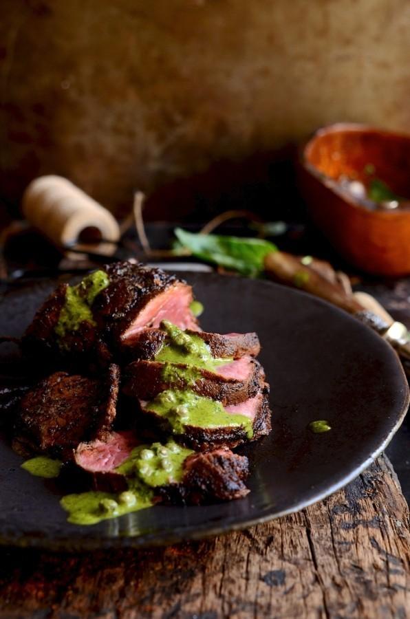 Smoky Joe's beef fillet with salsa verde | Bibbyskitchen recipes