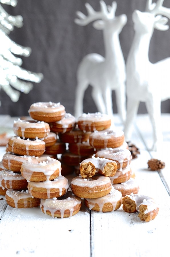 Baked Speculaas donuts