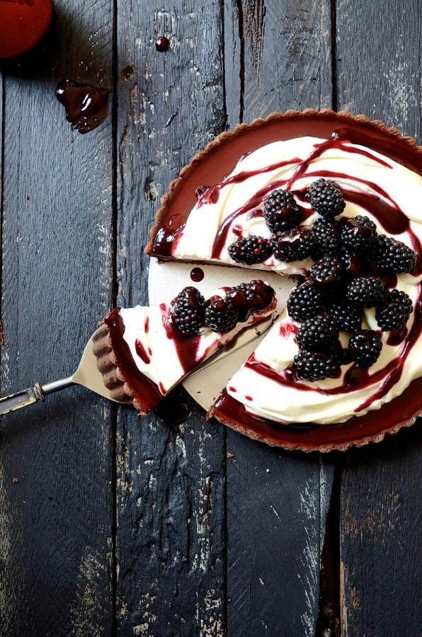 Baked Blackberry chocolate fondant tart | Bibbyskitchen recipes