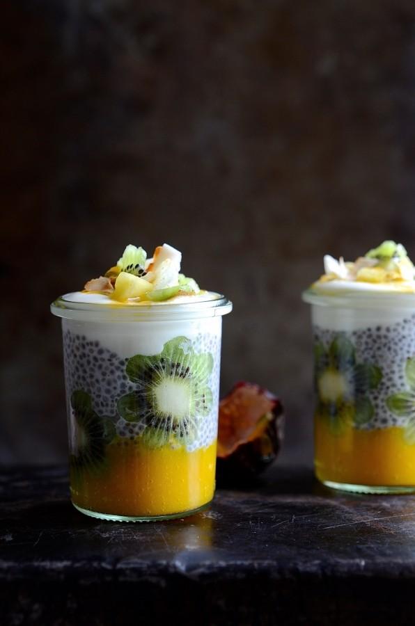 Tropical chia pudding pots   Bibbyskitchen Healthy breakfast recipes