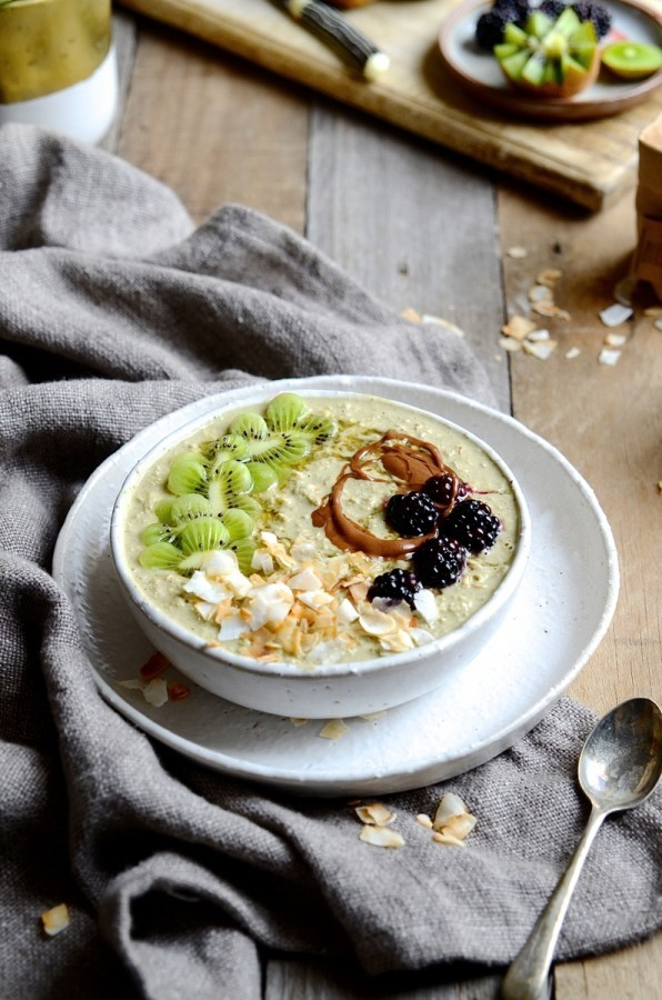 Matcha bircher muesli | Bibbyskitchen Healthy breakfast recipes