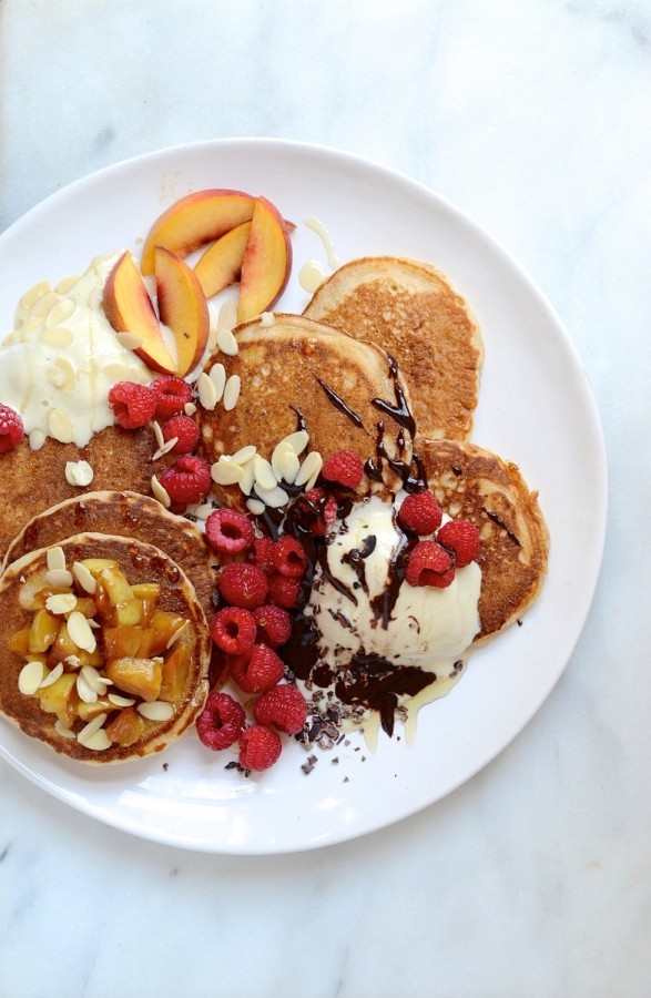 Wholewheat pancake stack