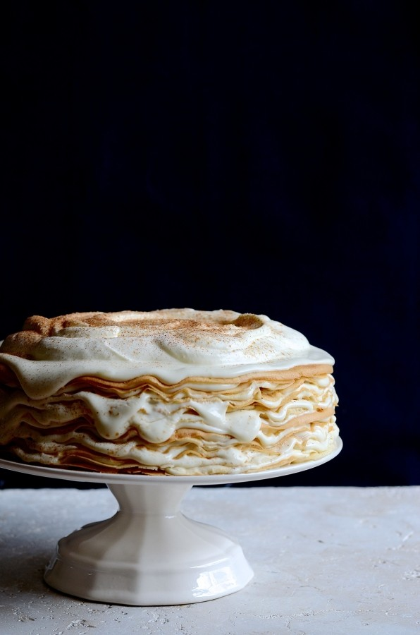 Milk tart pancake mille-feuille