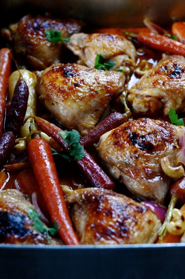 Chinese mandarin chicken tray bake | Bibbyskitchen recipes
