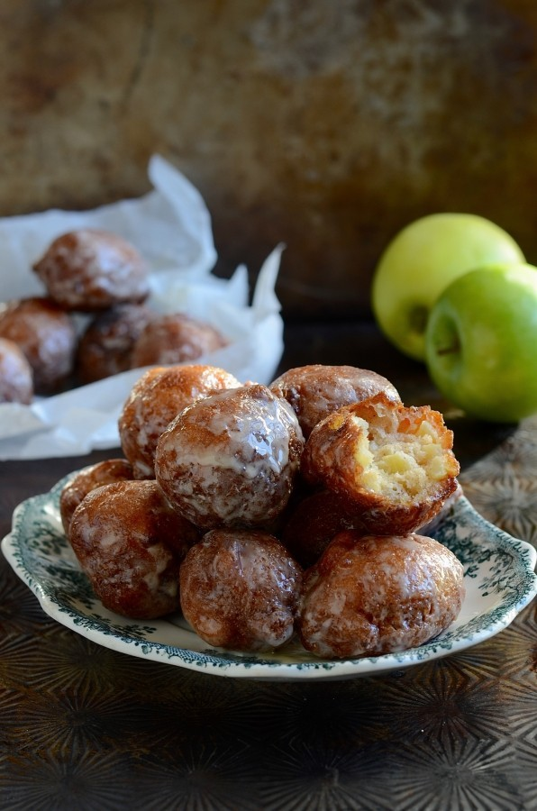 Double Glazed Donuts : Double glazed apple fritter donuts best donut recipe