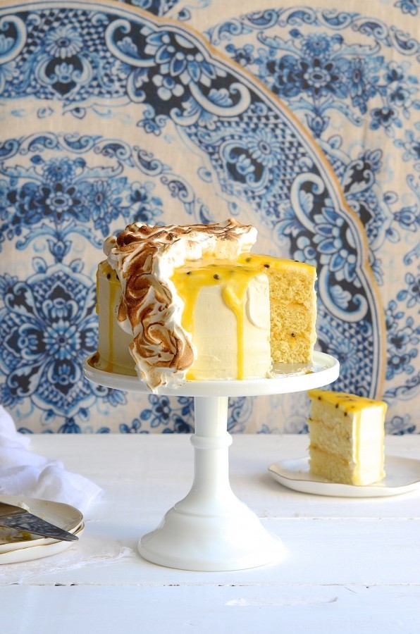 Gin and coconut granadilla curd cake | Bibbyskitchen Cake Friday