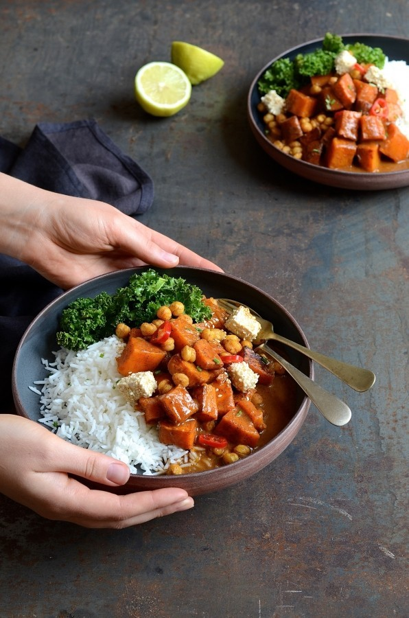 Butternut tikka masala curry | Bibbyskitchen vegan recipes