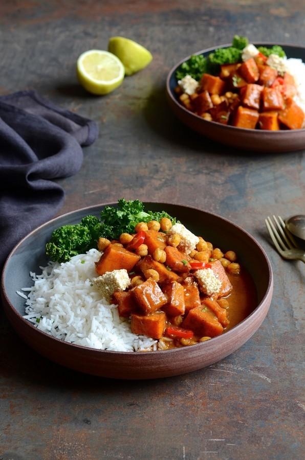 Butternut tikka masala curry | Bibbyskitchen vegan recipes