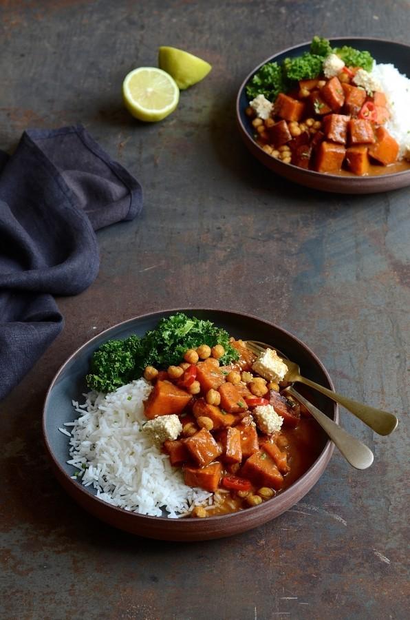 Butternut tikka masala curry