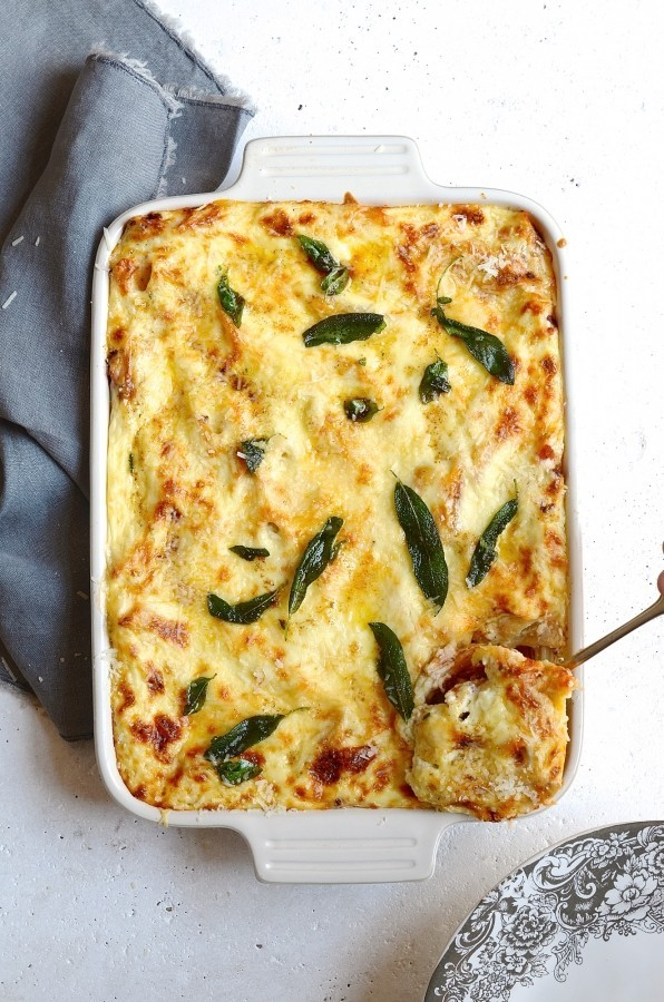 Pastitsio with basil and sage butter | Bibbyskitchen recipes