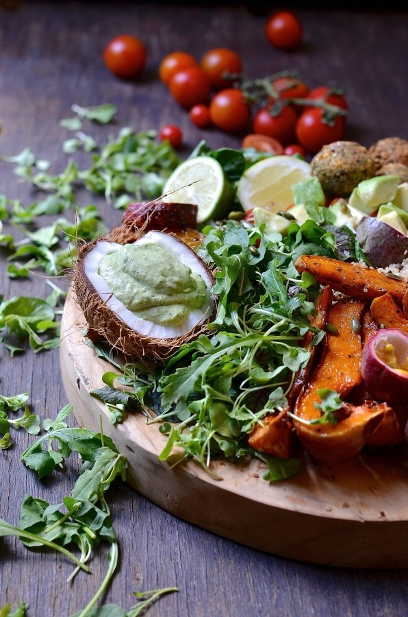 The Ultimate Buddha Bowl harvest board