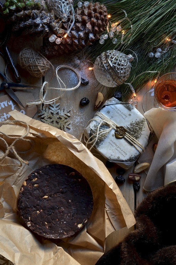 Chocolate panforte with sour cherries and cranberries | Sweet recipes