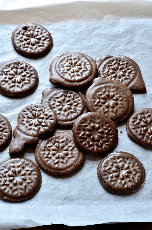 Soft gingerbread tile cookies