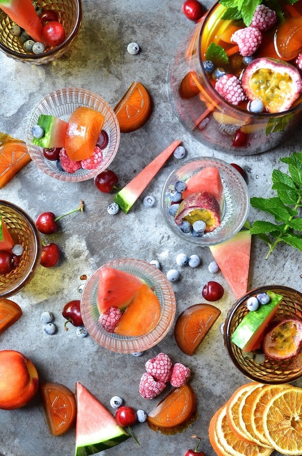 Mocktail rooibos sangria | Best summer alcohol-free drinks
