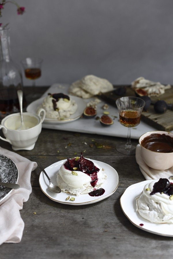 Hot cross bun pavlova with red wine figs | The best Easter dessert recipe