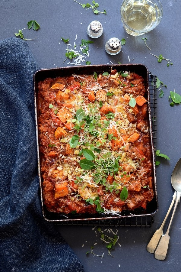 Sweet potato bake with tuna and veg | Bibbyskithchen cookbook review