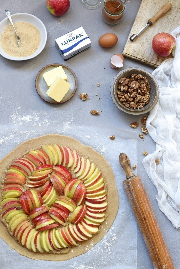 Apple galette with walnut frangipane and caramel | Bibbyskitchen desserts