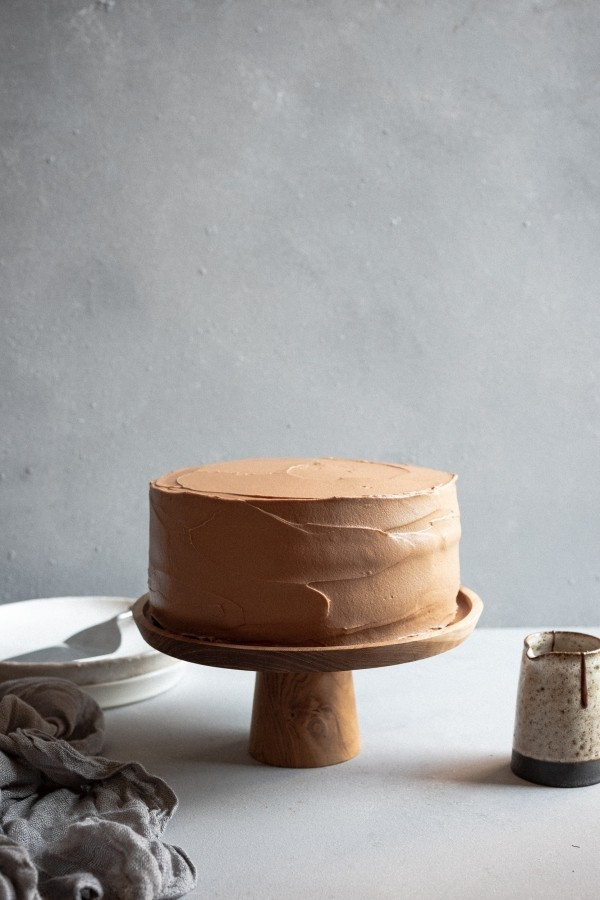 Dark chocolate mousse cake with cloud frosting | DSC