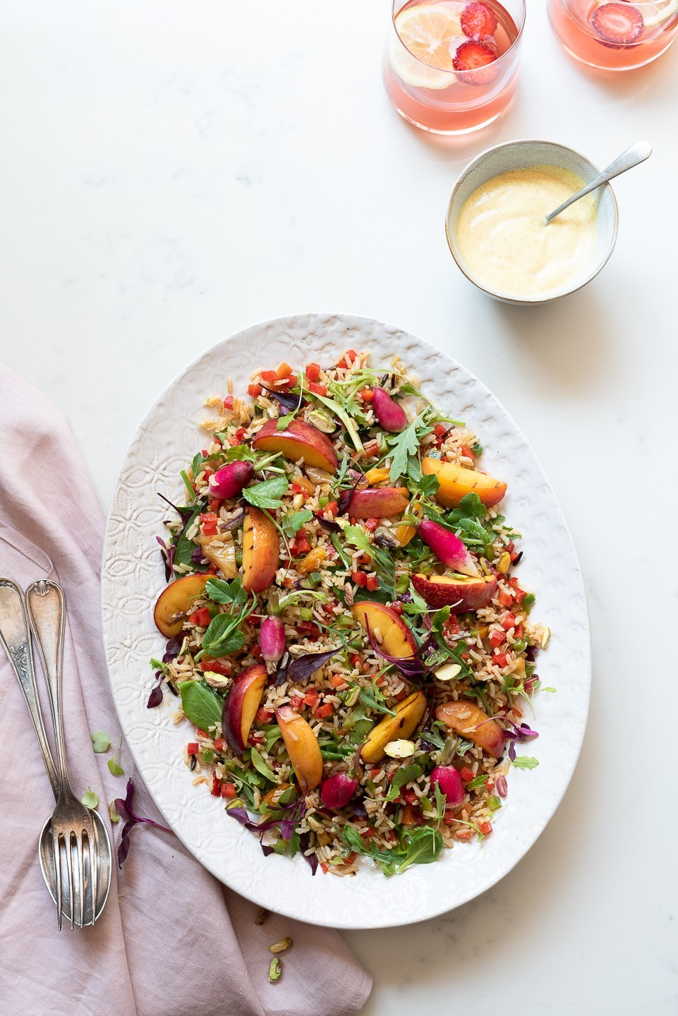 Wild rice salad with sweet peppers