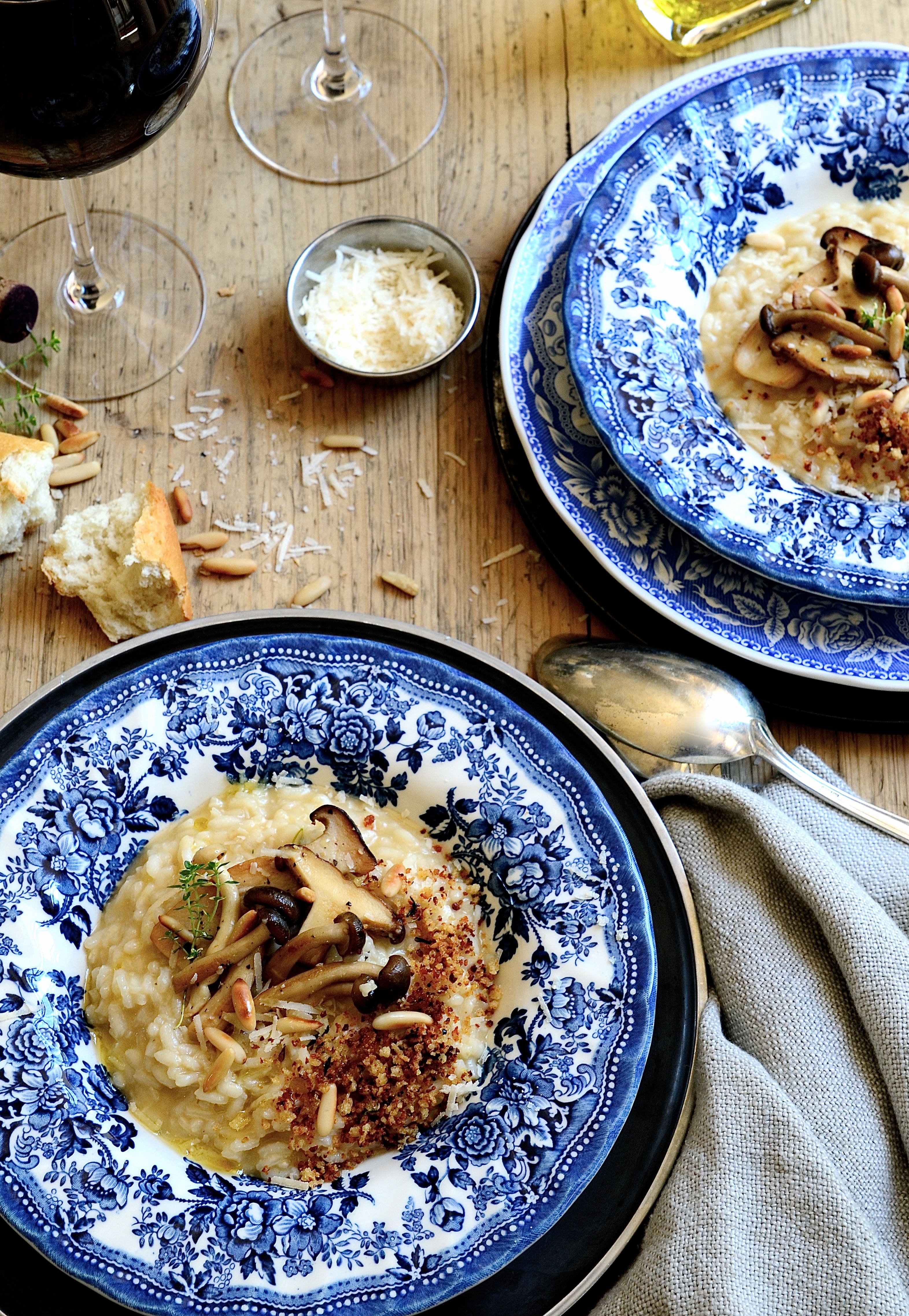 Mushroom and brown butter risotto