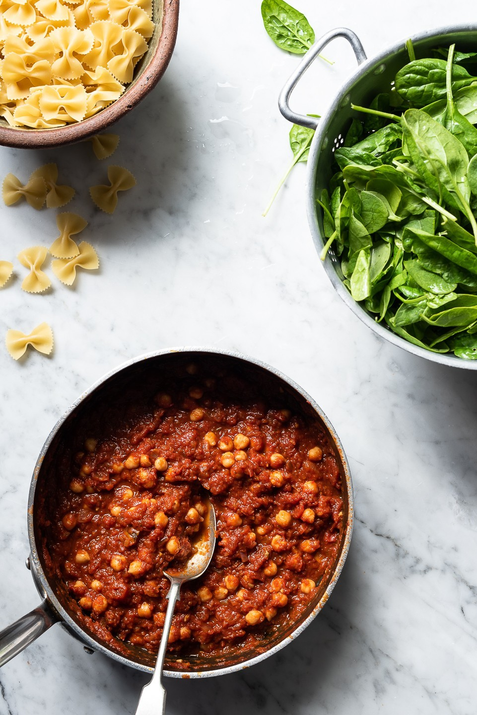 Spinach and chickpea pasta | Bibby's Kitchen @ 36 | A food blog sharing recipes, stories and travel