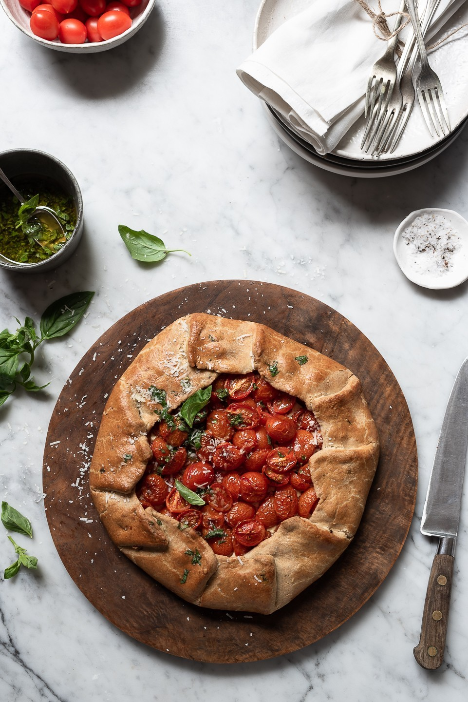 Tomato galette with ricotta & basil oil | Bibby's Kitchen @ 36 | A food blog sharing recipes, stories and travel