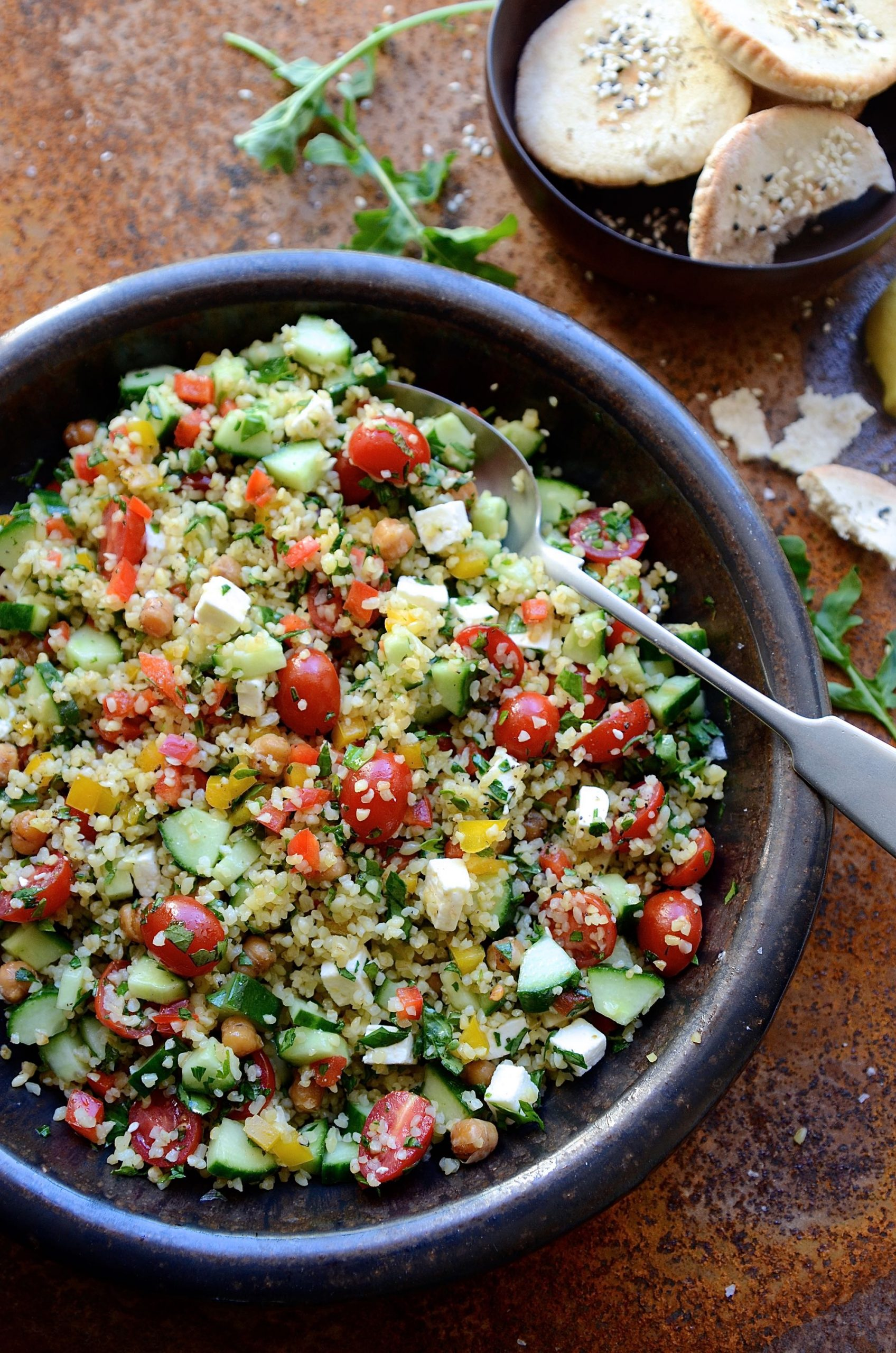Tabbouleh inspired bulgur wheat salad | Bibby's Kitchen healthy recipes