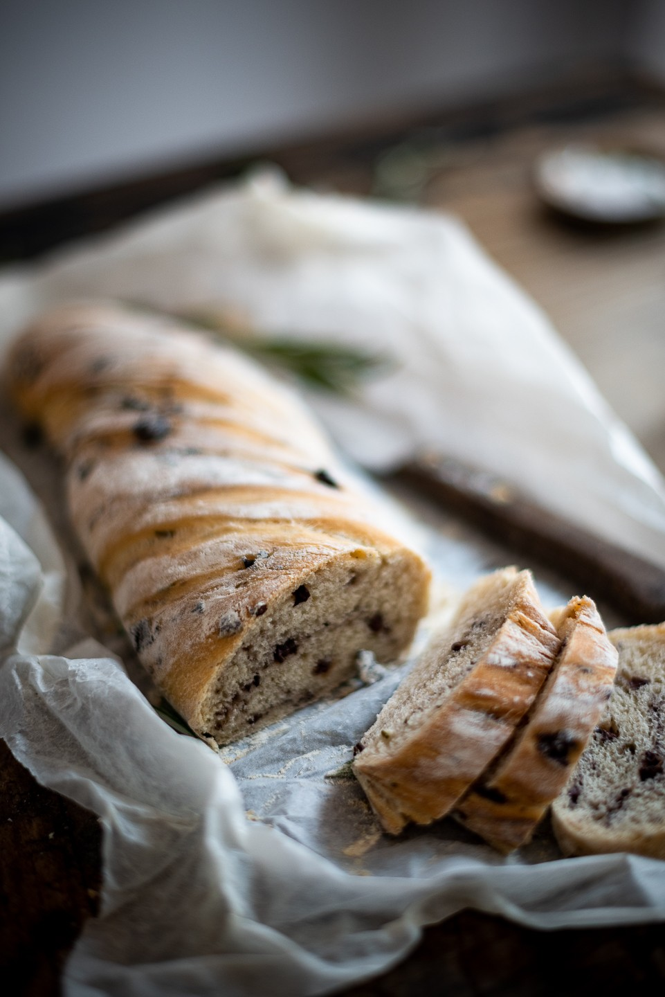 Twisted olive bread | Learn how to make bread on Bibbyskitchen