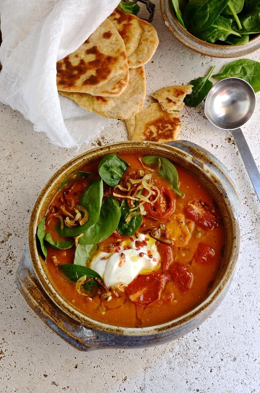 Spiced Lentil and Vegetable Soup | Bibbyskitchen recipes