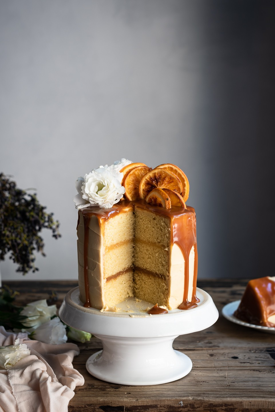 Vanilla and orange cake with grapefruit curd | Bibbyskitchen Cake Friday