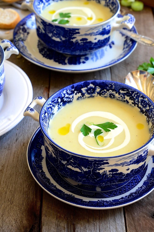 Pear, brie and leek soup | Bibbyskitchen soup recipes