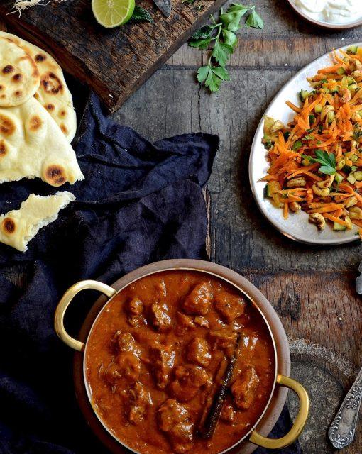 Lamb curry with mango atchar