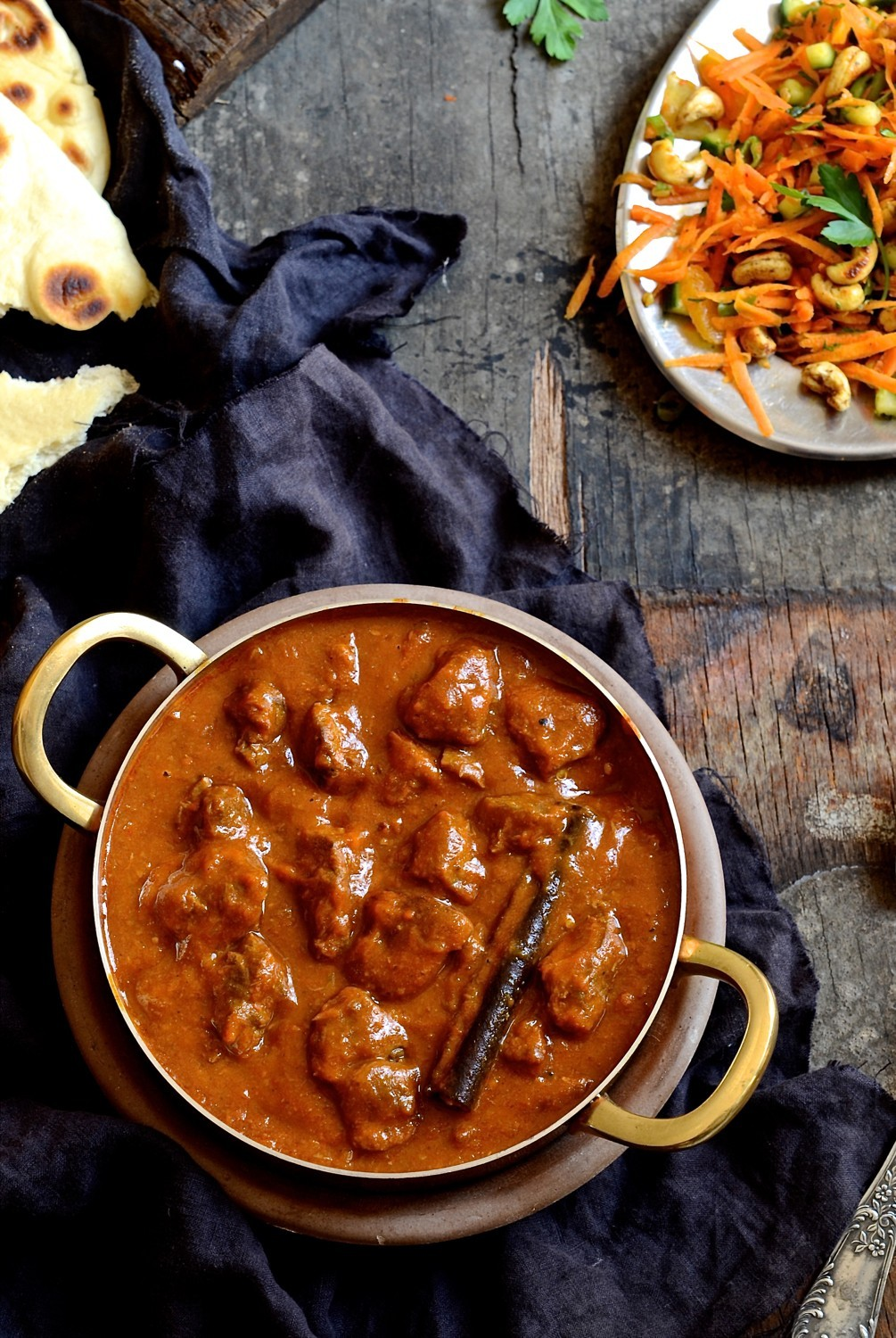 Lamb curry with mango atchar