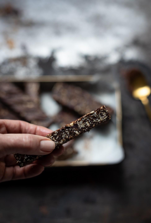 Granola choc-nut super bars - Bibby's Kitchen @ 36 | Healthy granola bars