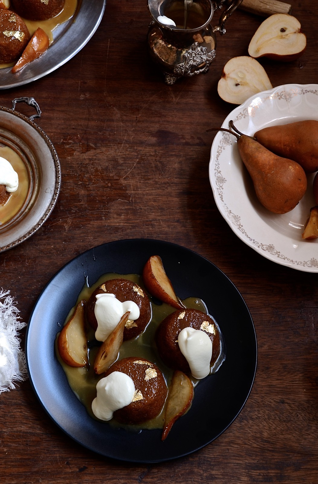 Caramel malva pudding with cognac pears | Bibbyskitchen recipes