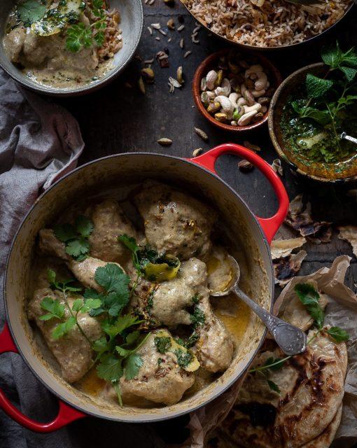Coconut and pistachio chicken Korma