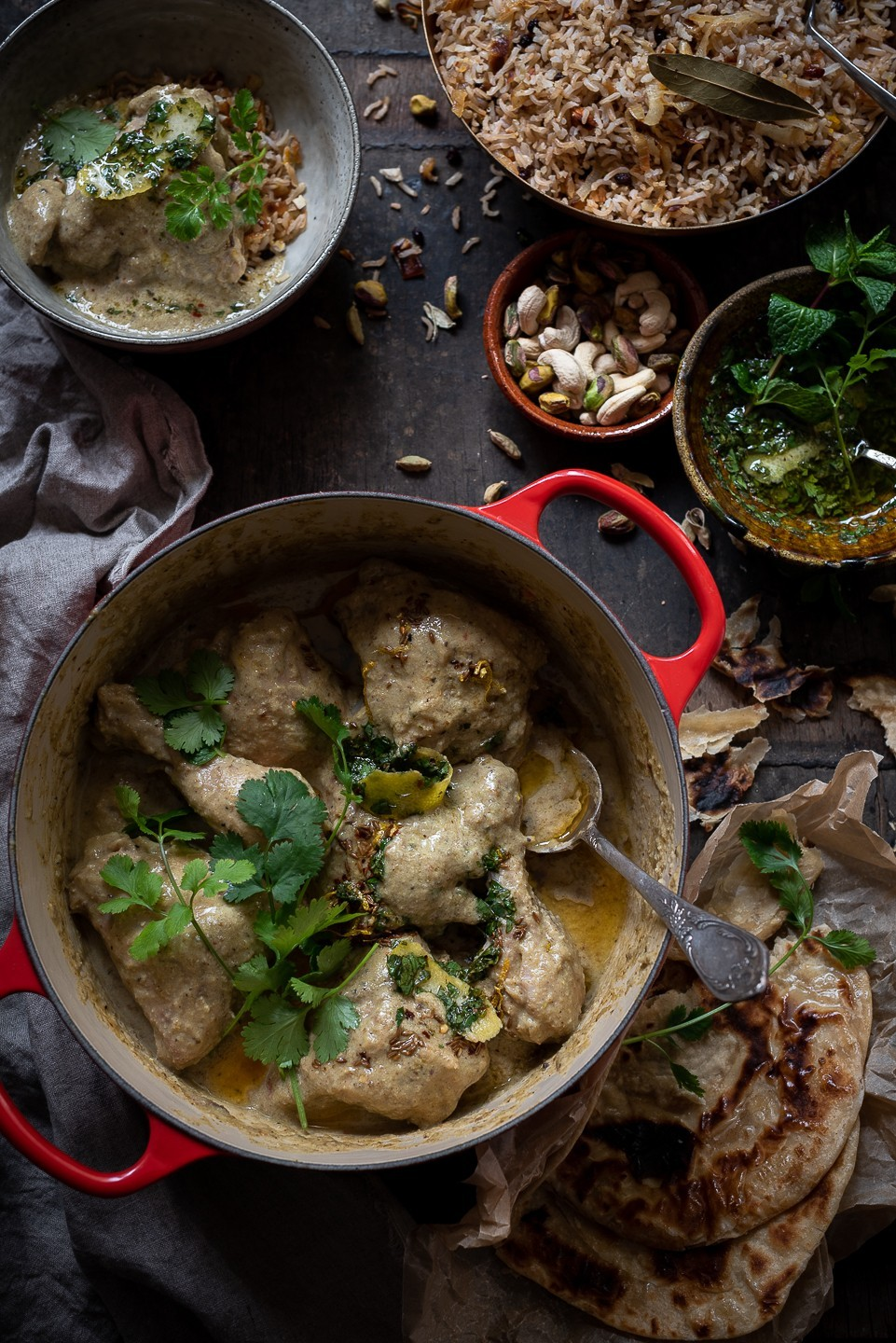 Coconut and pistachio chicken korma | Bibbyskitchen recipes
