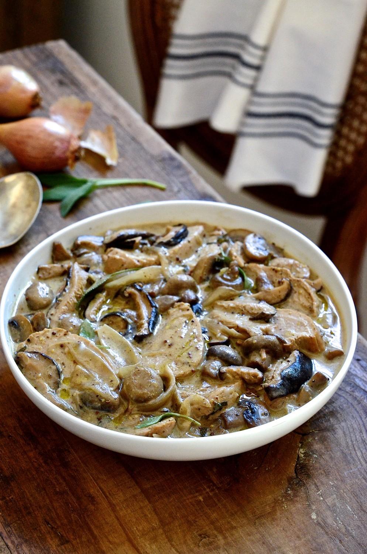 Pork and shallot casserole