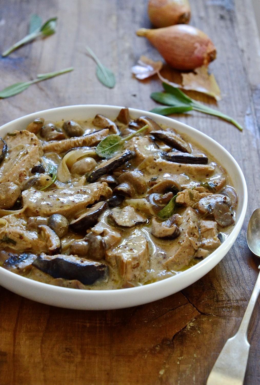 Pork & shallot casserole with sage & mushrooms   Bibbyskitchen casserole