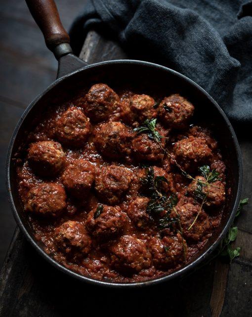 Ottolenghi's ricotta and oregano meatballs