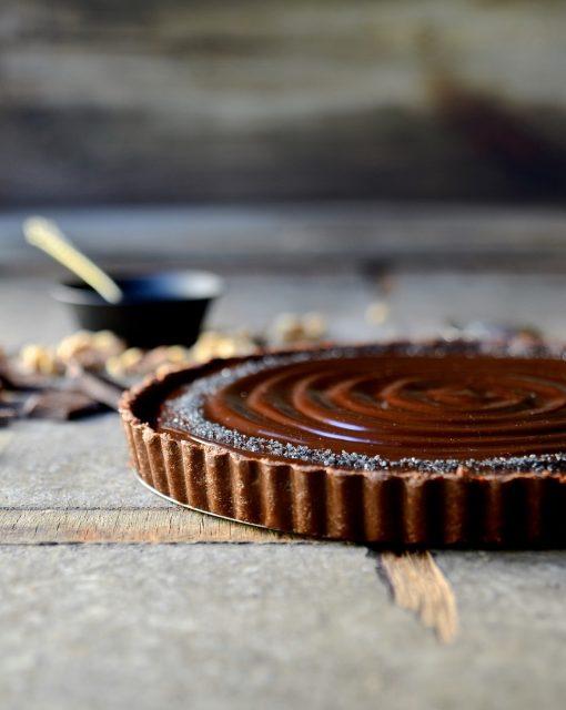 No bake chocolate walnut tart