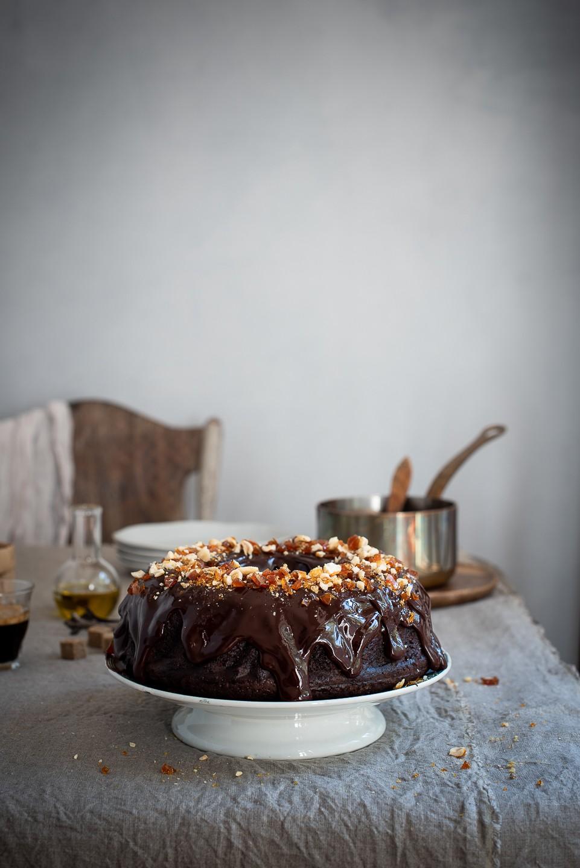 Red wine and olive oil chocolate cake | Bibbyskitchen recipes