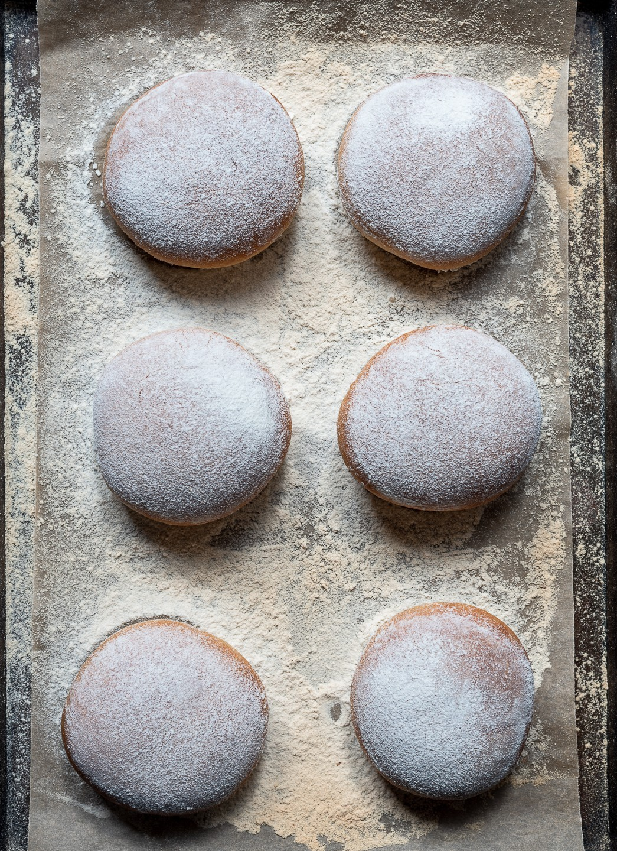 Floured milk bread buns   Bibbyskitchen recipes   Bread