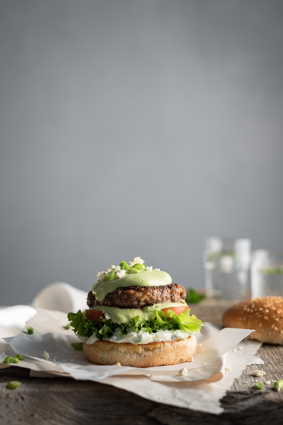 Greek-style burgers with minted tzatziki | Bibbyskitchen recipes