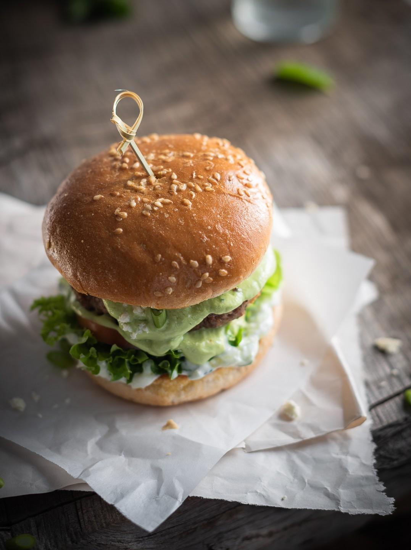 Greek-style burgers with minted tzatziki | Bibbyskitchen recipes