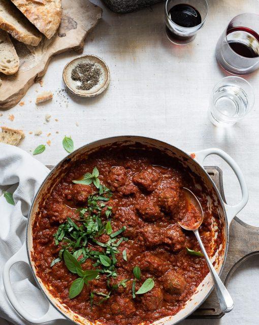 Parmesan Meatballs with Sundried tomato sauce