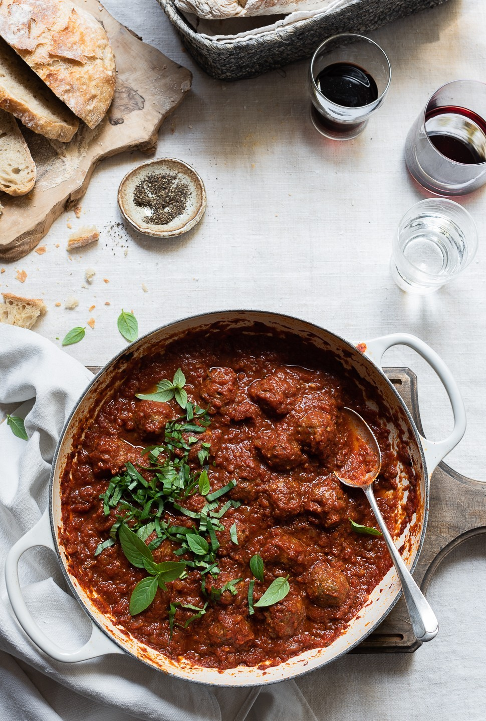Parmesan Meatballs with Sundried tomato sauce